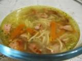 Суп с колбасой.