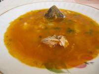 Рыбный суп с перловкой.